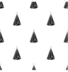 wigwam icon in black style isolated on white vector image