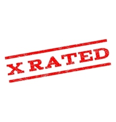 X Rated Watermark Stamp vector