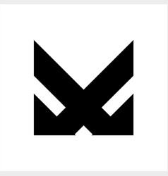 x xm vm vxm initials company logo vector image