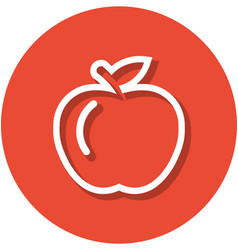 apple within a circle line icon vector image
