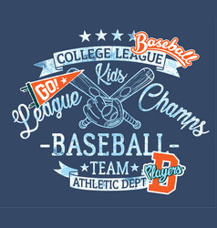 baseball kids team league champs vector image