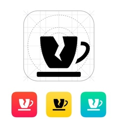 Broken cup icon vector image