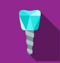 dental implant symbol vector image