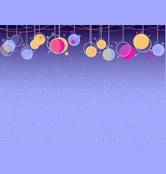 hanging christmas balls memphis style celebratory vector image vector image
