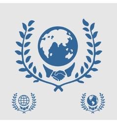 International symbol handshake vector