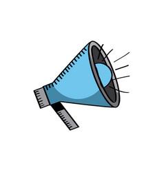 megaphone device icon vector image