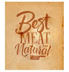 Poster best meat craft vector