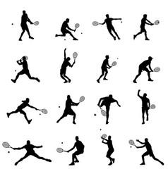 tennis player set of sixteen men vector image vector image