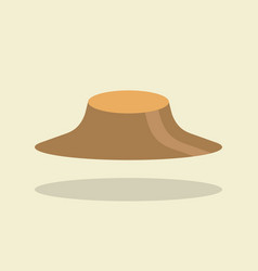 asian farmer hat vector image