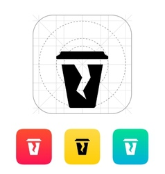 Damaged cup icon vector image