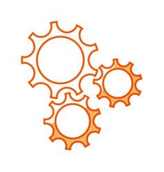Gear teamwork wheel mechanism power vector