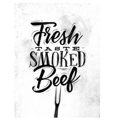 poster smoked beef vector image