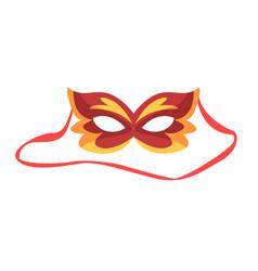 red carnival mask celebration party symbol vector image