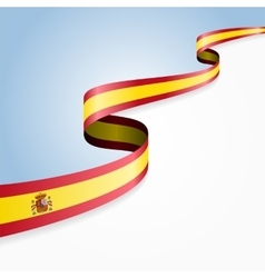 Spanish flag background vector image vector image