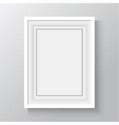 white frame for paintings or photographs on the vector image
