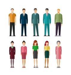 Icons of businessmen and businesswomen vector image