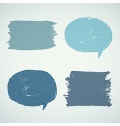Set of grunge speak bubbles vector image vector image