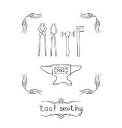 Tool Smithy Three vector image vector image