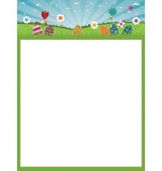 Easter poster vector image