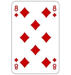 Poker playing card 8 diamond vector image vector image