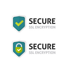 ssl certificate icon secure encryption vector image