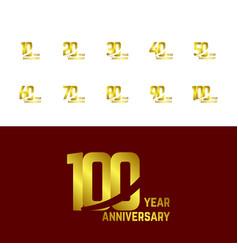 100 year anniversary set logo template design vector