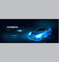 3d isometric image a smart or intelligent car vector