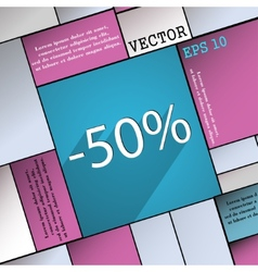 50 percent discount icon symbol Flat modern web vector image