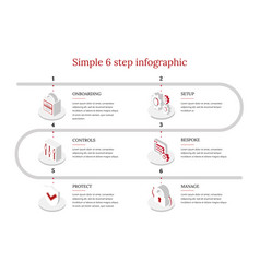 6-step infographic vector image