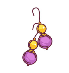 A pair of purple drops vector