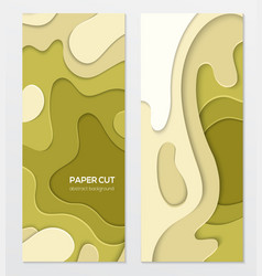 abstract green banner - set template vector image