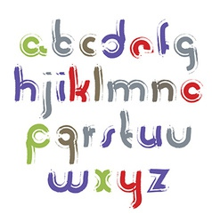 acrylic alphabet letters set hand-drawn colorful vector image