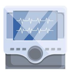 Aid defibrillator icon cartoon style vector