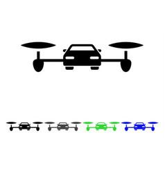 Air car flat icon vector