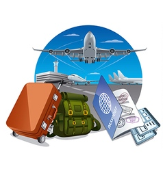 Air travel and journey vector