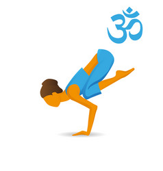 Bakasana or crane yoga pose vector