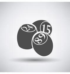 Bingo kegs iicon vector