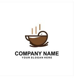 Bird coffee logo vector