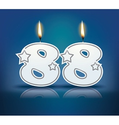 Birthday candle number 88 vector