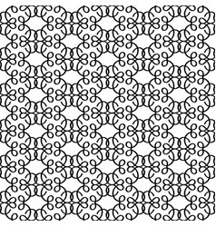 Black linear decorative pattern vector