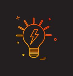 Blub power electric icon design vector