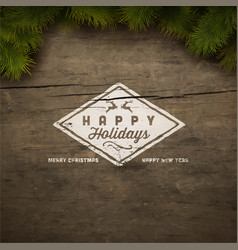 christmas typography vector image