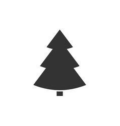 christmass tree icon vector image