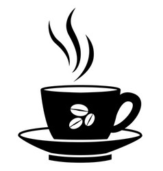 coffee cup silhouette sign vector image