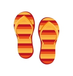 colorful beach sandals graphic vector image