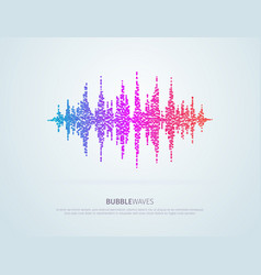 colorful pixelated sound waves abstract vector image