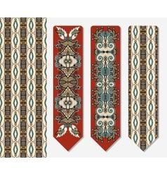 Decorative ethnic paisley two bookmark vector