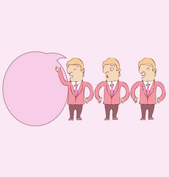 digitally drawn explainer business man character vector image