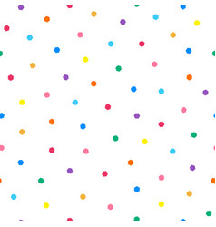 dotted seamless minimalistic pattern with colorful vector image