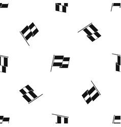 egyptian flag pattern seamless black vector image